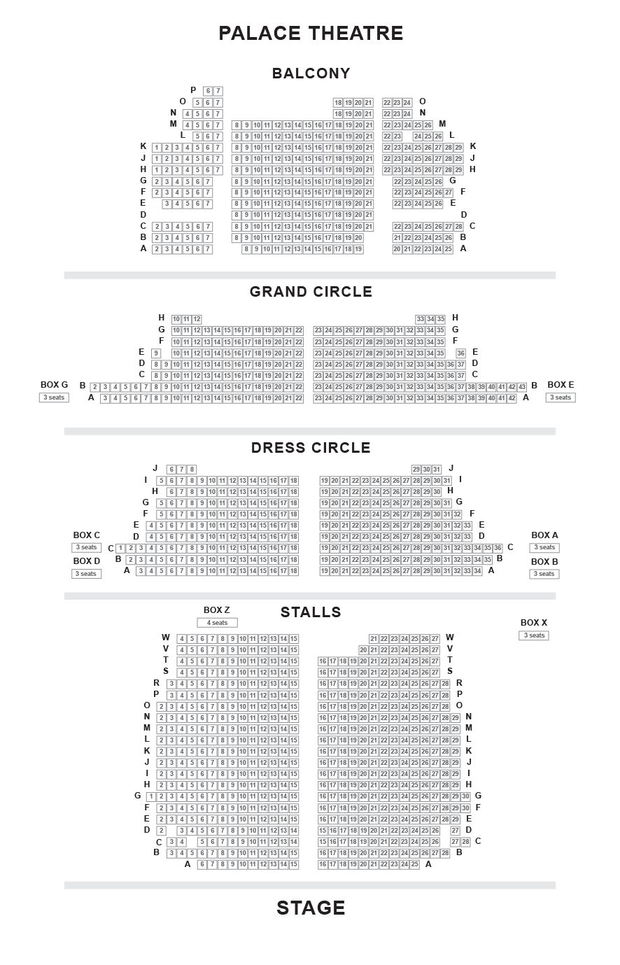Theatre Seating Plan