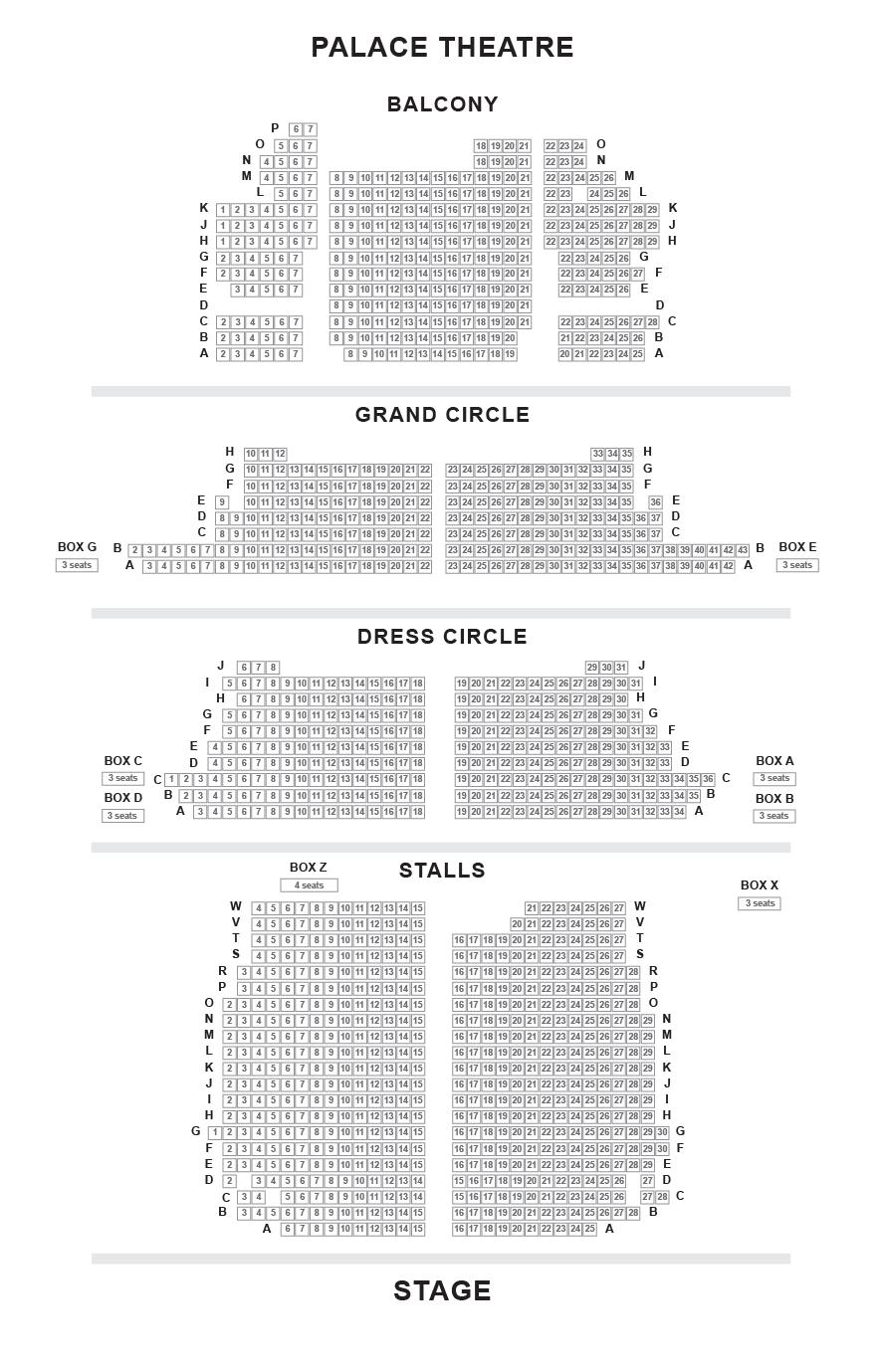 Palace Theatre Seating Plan